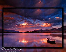 Landscape Photo lake and sky with clouds osoyoos british columbia
