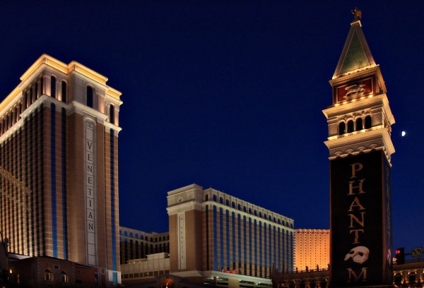 Nevada,Las Vegas,Venetian Hotel at night