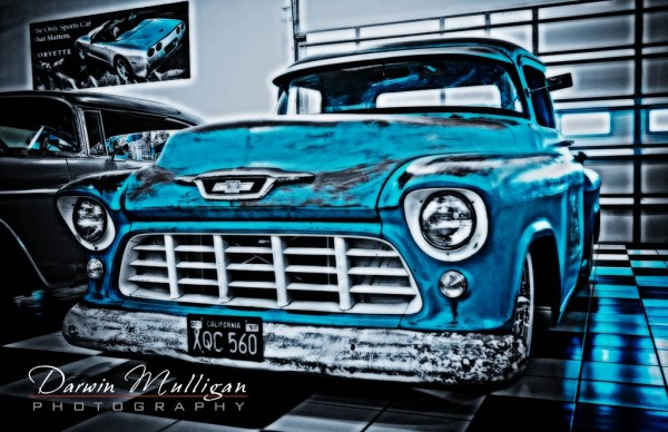 old chevy truck in a museum