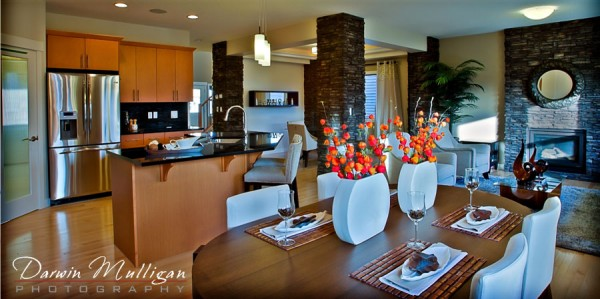 Dolce Vita show home in Edmonton, Alberta, featuring an open style kitchen area