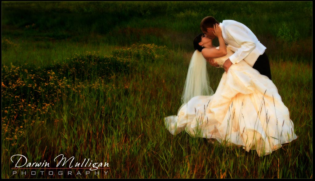 Edmonton Wedding Photographer Sunset Romantic Kiss