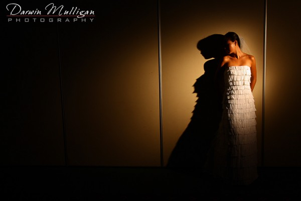 Bride in silhouette