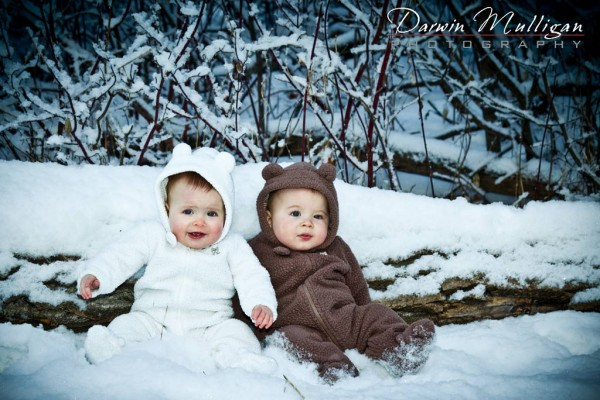 Edmonton baby photography on location in the snow