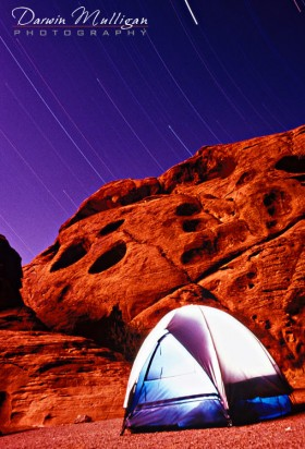 Valley of Fire State Park,Nevada,camping,night photography,star trails