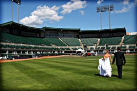 Getting married at Telus Field
