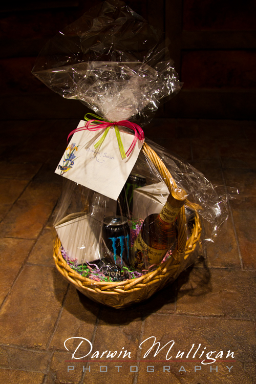 Appreciation gift basket for destination wedding photographer