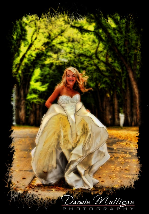Haley dances with excitement on her wedding day
