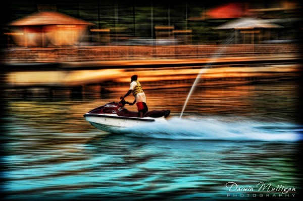 Yamaha Personal Water Craft, Jamaica, Destination Wedding, Sunset picture