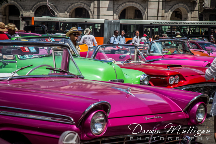 Old-cars-gather-in-old-town-Havana-Cuba