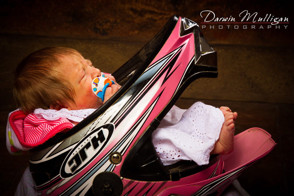 Edmonton-baby-photographer-newborn-baby-in-Motorcycle-Helmet